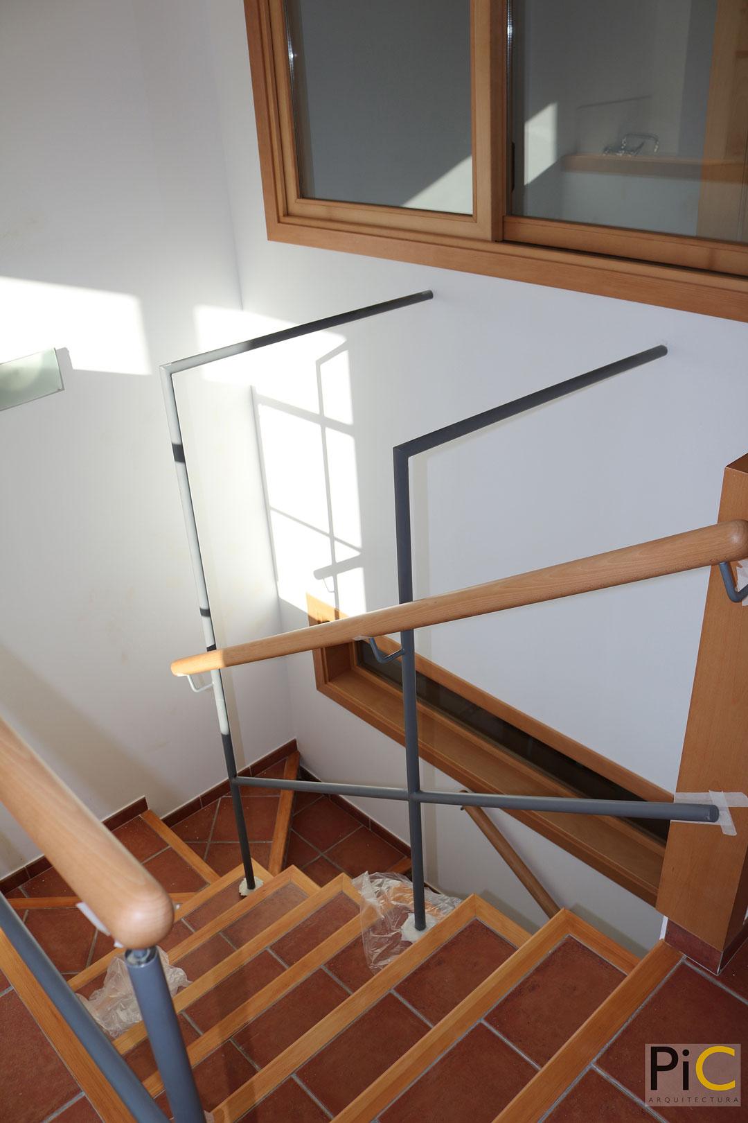 Obra nueva arquitectura vivienda-unifamiliar Benasau Barandillas 2ª planta