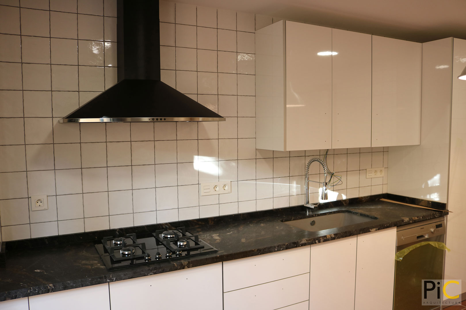 Obra nueva arquitectura vivienda unifamiliar Benasau Cocina
